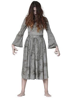 Horror Film Halloween Costumes (Ladies The Ring Costume Adults Horror Film Halloween Fancy Dress Costume)