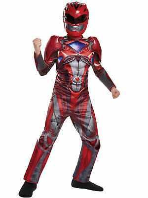 Boys Power Rangers Red Ranger Muscle Halloween Costume