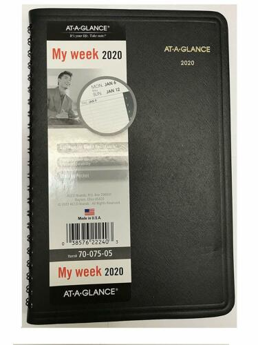 2020 At-A-Glance 70-075-05 Weekly Appointment Book, 4 7/8 x 8 inches
