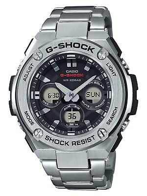 Casio G-Steel Men's Tough Solar Ana-Digi Silver-Tone 49mm Watch GSTS310D-1A