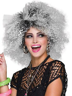Ladies 80s Pop Icon Wig Adult Madonna Wild Child Fancy Dress Costume - Wild Child Adult Kostüm