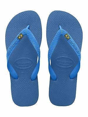 Havaianas Men's Brazil Logo Flip Flop Sandals US 12 Marine Blue