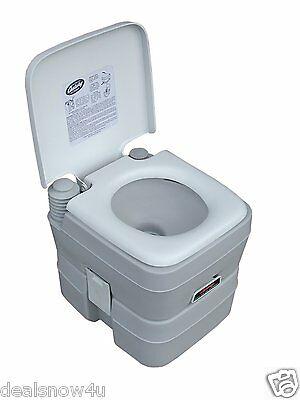 5 Gallon Portable Toilet Camping Hiking RV Outdoor Light Gray Seat for Sale Go v