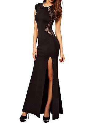 elegante abito cerimonia da donna vestito lungo con spacco festa sera