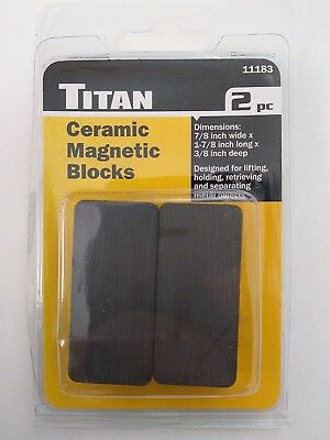 Titan 11183 Ceramic Magnetic Blocks 2pc