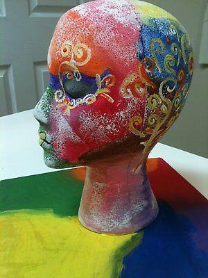 STYROFOAM FOAM MANNEQUIN WIG HEAD DISPLAY HAT CAP WIG HOLDER WHITE FOAM HEAD