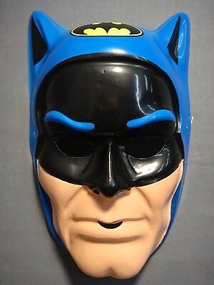 BLUE DC COMICS BATMAN HALLOWEEN MASK PVC KID SIZE ONE SIZE FITS MOST