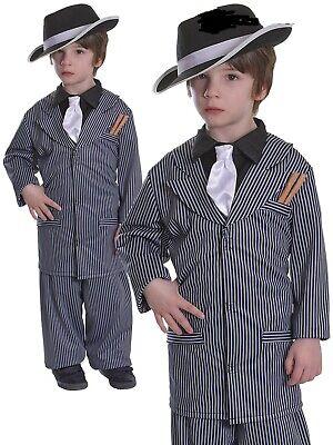Jungen Gangster Kostüm Kinder 1920's Mafia Bugsy Malone Kostüm Gangsta Outfit