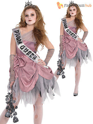 Prom Queen Halloween Outfit (Ladies Zombie Prom Queen Costume Adults Halloween Fancy Dress Womens)