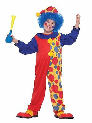 Clown Circus Carnival Fancy Dress Up Halloween Toddler Baby Child Costume