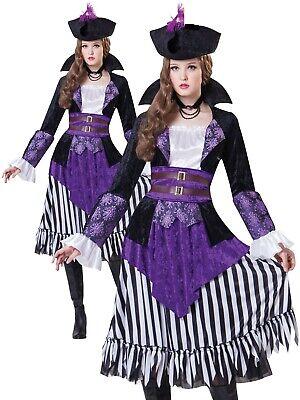 Erwachsene Deluxe Piraten Königin Kostüm Erwachsene Captain Kostüm Damen - Captain Kostüm Kleid