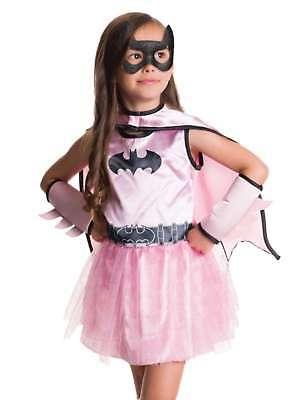 Toddler Girls Pink Batgirl Costume Baby Bat Girl Outfit Dress Cape & Mask 2T - Batgirl Costume Toddler Girl