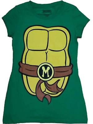 Womens Teenage Mutant Ninja Turtles Mikey Tee Shirt Halloween Screen T-Shirt (Womens Ninja Turtle Shirt)