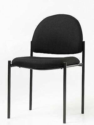 Office Factor Stackable Guest Chair Fabric Upholstered Waiting Room Chair For