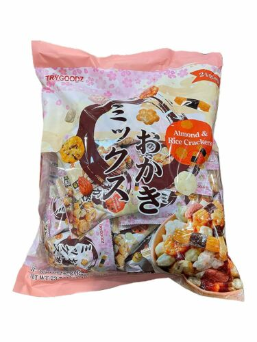 New 24 bags Trygoodz Almond & Rice Crackers Non GMO