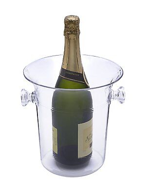 Clear Plastic Acrylic Ice Bucket Wine Beer Bottle Cooler Champagne 4L Bar Party ()