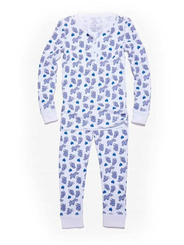 ROBERTA ROLLER RABBIT Kids Blue Juniper Pajamas 10 Years $65 NEW