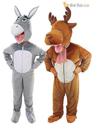 Deluxe-kids Kostüme (Deluxe Kids Nativity Animal All in One Costume Childrens Christmas Fancy Dress)