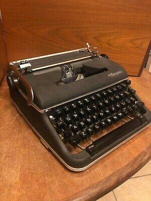 Vintage Olympia SM-4 S Typewriter- 1960- RARE BLACK Special Order
