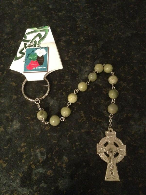 GENUINE Hand Carved Connemara Marble Penal Rosary Beads Guaranteed Irish