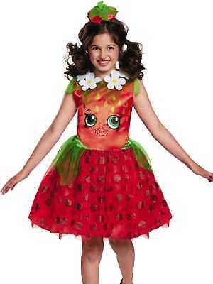 Girls Shopkins Strawberry Kiss Halloween Costume Dress & Headband - Girl Kiss Halloween Costumes