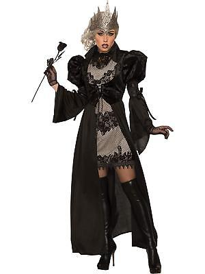 Evil Essence Dark Royalty Medieval Woman Fancy Dress Up Halloween Adult Costume