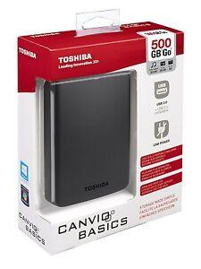 Disco-Duro-Externo-2-5-039-039-500GB-USB-3-0-PS4-Toshiba-Canvio-Basics-500-GB-HD-Disk