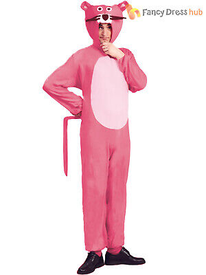 Adult Panther Costume Mens Ladies Cartoon Fancy Dress 60s 70s 80s Outfit