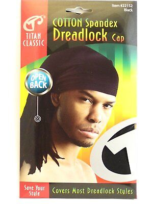 Titan Classic Cotton Spandex Dreadlock Cap Open Back Styles Stretchable Men Hats](Dreadlock Hat)