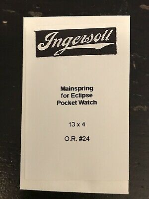 Ingersoll Mainspring for Eclipse Dollar Pocket Watch