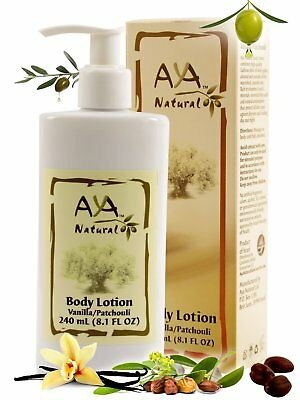 AYA NATURAL Patchouli-Vanilla BEST  Body Lotion for Dry Skin -  Vegan (Best Natural Skin Lotion)