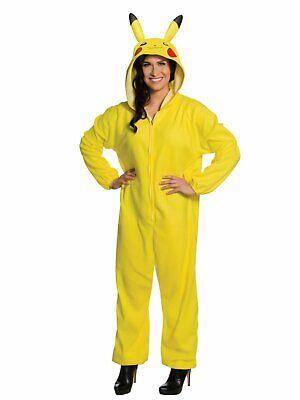 Pokemon Adult Womens Pikachu Costume Hoodie Jumpsuit