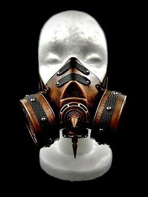 Bronze Goth Steam Punk Victorian Gas Mask Prop Mad Max Terminator Style Cosplay - Gothic Gas Mask