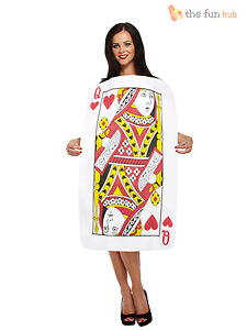 Ladies Queen of Hearts Fancy Dress Casino Costume Playing Card Fairytale 8 10 12