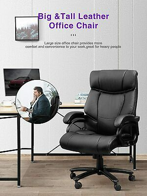 High Back Office Chair For Big And Tall 400 Lbs Ergonomic Pu Leather Memory Foam