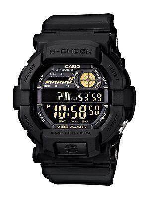 Casio G-Shock Men's GD350-1B World Time Alarm Digital Black Resin 49mm Watch