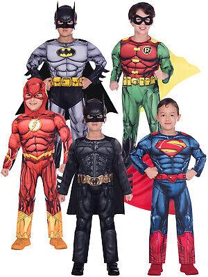 Cheap Knight Costume (Childs Batman Dark Knight Superman Flash Robin Fancy Dress Superhero Boys)