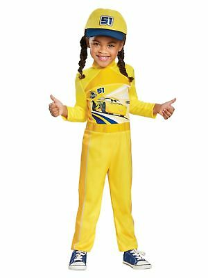 Toddler & Little Girls Disney Cars Cruz Halloween Costume With Jumpsuit & Hat