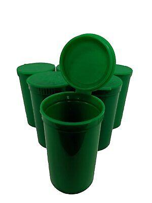 Pack Of 50 Green 30 Dram Pop Top Bottle Rx Vial Medical Grade Pill Box Herb