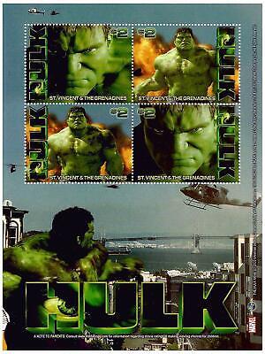St. Vincent 2003 - Scott# 3146 - Hulk, Marvel, Film - Sheet of 4 Stamps - MNH