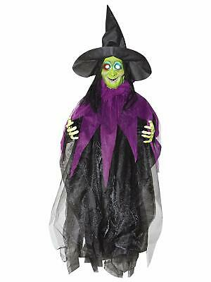 3' Light Up Cute Creepy Witch Hanging Prop Evil Halloween Decoration