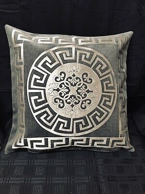 Greek Border Key Turquoise And Gold Versace Border Dec Pillow Throw Cover