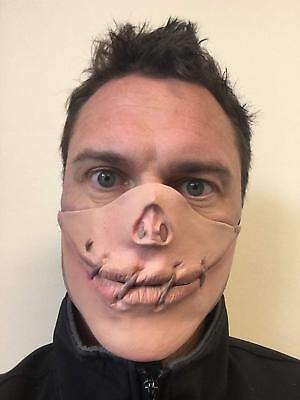 ween Horror Maske Stich Mund Genäht Gesichtsmasken Kostüm (Halloween Genäht Gesicht)
