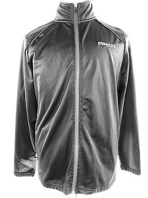 AND1 Full Zip Light Weight  Jacket Long Sleeve Black Sports Warm-Up Sz M $35 1 Full Zip Jacket