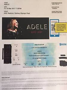 Two ADELE Live tickets next to each other Braddon North Canberra Preview