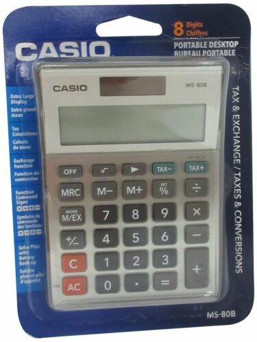 Casio MS-80B Basic Standard Function Desktop Calculator with 8 Digital Display