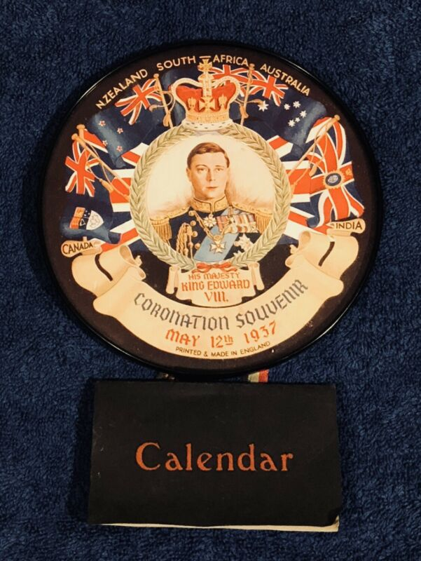 Vintage King Edward VIII Coronation Calendar 1937 (NEVER BECAME KING IN 1937!!)