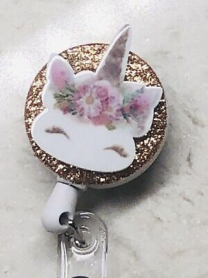 Unicorn Nurse ID Badge Holder Retractable Reel 24