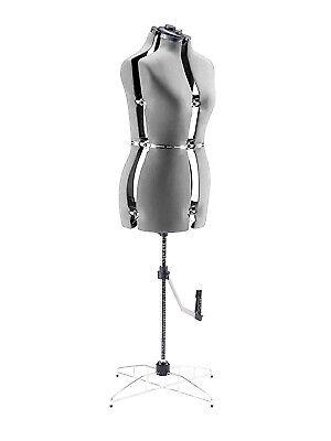 Adjustable Mannequin Dress Form Female - Gray