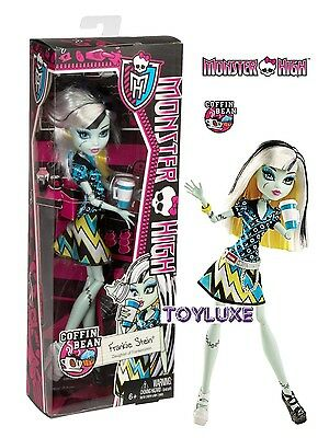Monster High COFFIN BEAN FRANKIE STEIN Doll New Coffee Shop Cafe Latte Ghouls (Monster High Shopping)